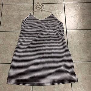 🌿3/$20 Beach Star navy/white striped halter dress